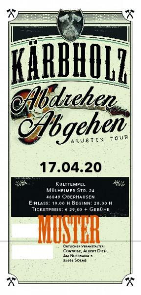 Ticket Akustiktour Oberhausen, Kulttempel - 17.09.2020 - AUSVERKAUFT!