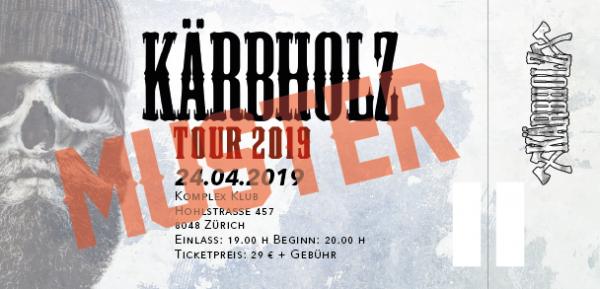 Tour Ticket 2019 - Zürich (CH) 24.04.2019