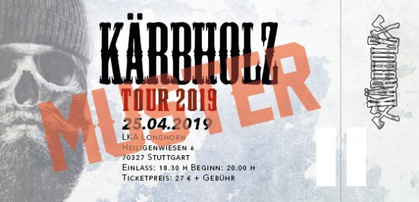 Tour Ticket 2019 - Stuttgart 25.04.2019