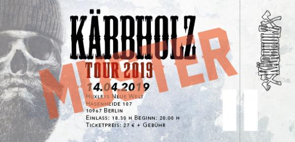 Tour Ticket 2019 - Berlin 14.04.2019