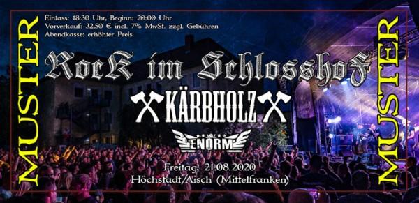 Tickes Höchstadt -21.08.2020- Schlosshof Festival