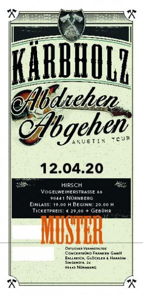 Ticket Akustiktour Nürnberg, HIRSCH - 11.10.2021 - AUSVERKAUFT