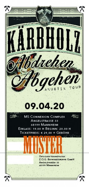 Ticket Akustiktour Mannheim, MS Connexion Complex - 18.09.2020 -