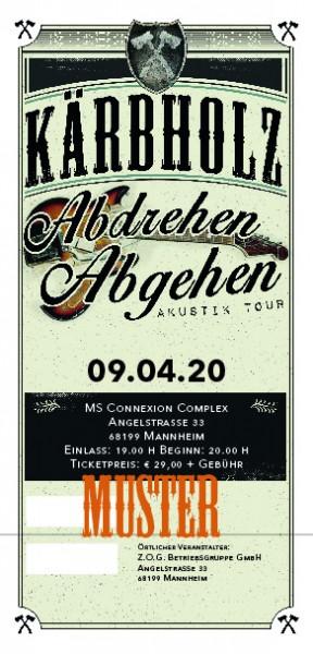 Ticket Akustiktour Mannheim, MS Connexion Complex - 18.09.2020 -