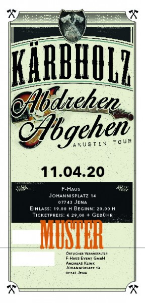 Ticket Akustiktour Jena, F-Haus - 14.10.2021 - AUSVERKAUFT