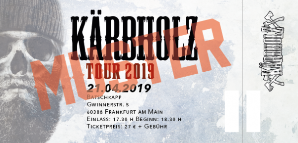 Tour Ticket 2019 - Frankfurt 21.04.2019