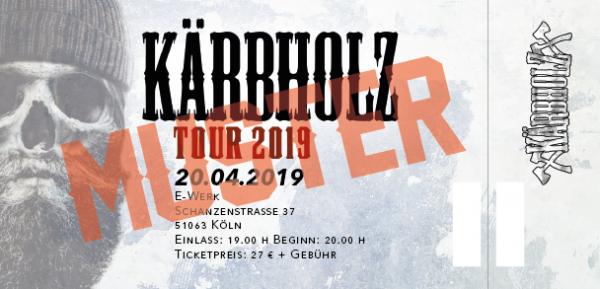 Tour Ticket 2019 - Köln 20.04.2019