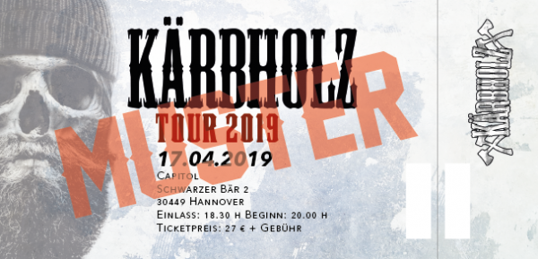 Tour Ticket 2019 - Hannover 17.04.2019