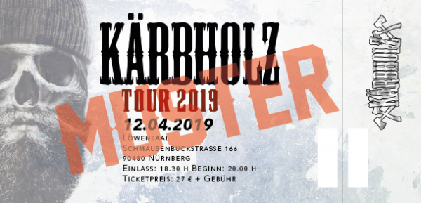 Tour Ticket 2019 - Nürnberg 12.04.2019