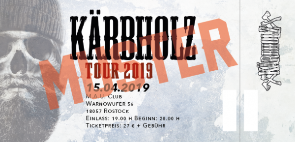 Tour Ticket 2019 - Rostock 15.04.2019